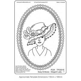 Template parchemin ovale silhouette femme élégante 1