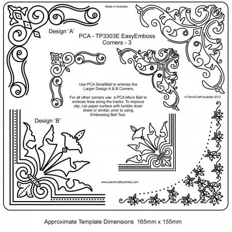 Template parchemin coins en relief 3