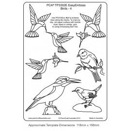 Template parchemin oiseaux modèle 4