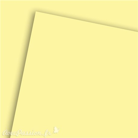 Papier uni efalin jaune