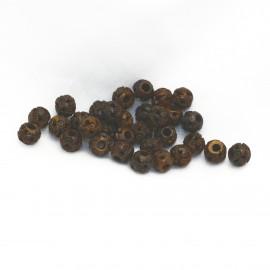 perle fantaisie en corne 5mm