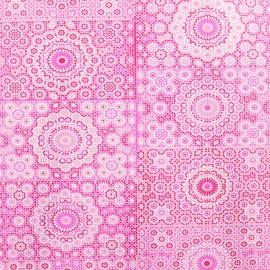 Feuilles décopatch motifs de semis tons de rose