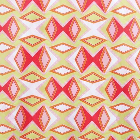 Feuilles décopatch motifs formes géométriques orange rouge et vert