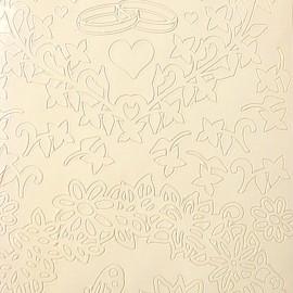 Sticker peel off adhésif blanc