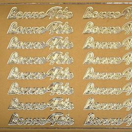 Sticker peel off adhésif or bonne fete