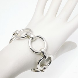 Bracelet fantaisie Ubu mailles rond argent