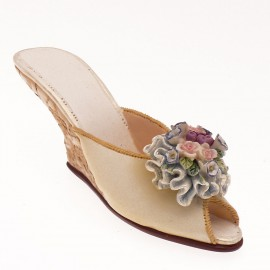 Chaussure miniature collection fleurette
