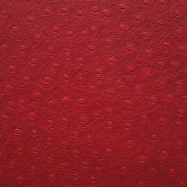 Papier simili cuir autruche rouge en relief