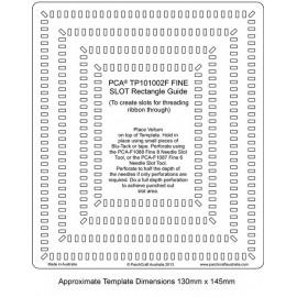 Template parchemin rectangle bordure fine fente rectangulaire
