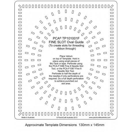 Template parchemin ovale bordure fine fente rectangulaire