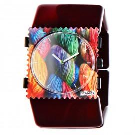 Montre Stamps bracelet de montre élastique belta bordeaux