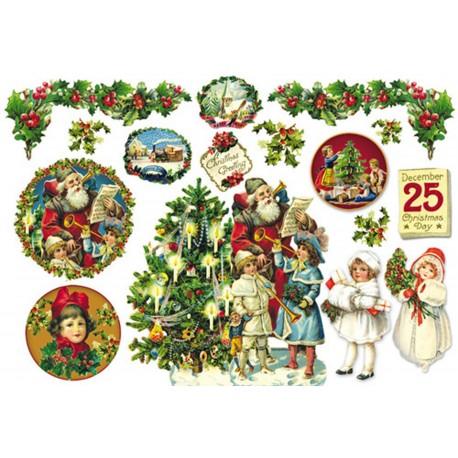 Papier de riz Stampéria 25 décembre sujets de noël