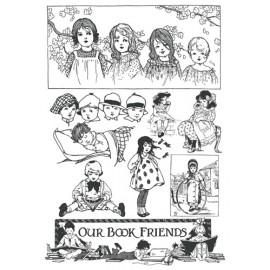 Motifs décoratifs les petits écoliers papier transfert