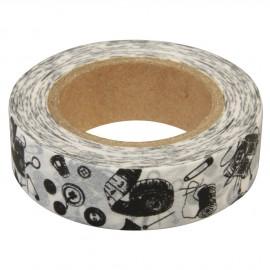Masking tape ruban papier adhésif washi salle de couture 15mmx15m
