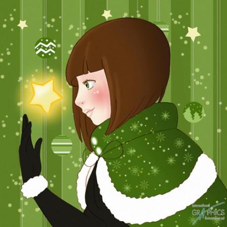 Carte postale Bulle de Poisson emerald star