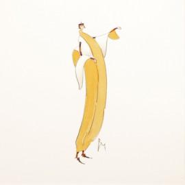 Aquarelle Brigitte Misériaux banane