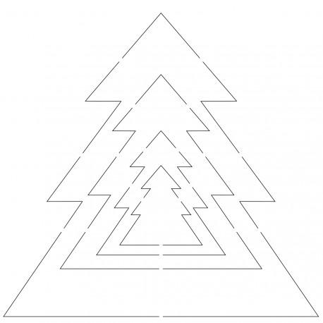 Scrapbooking gabarit de découpe Artemio coluzzle sapin de noël