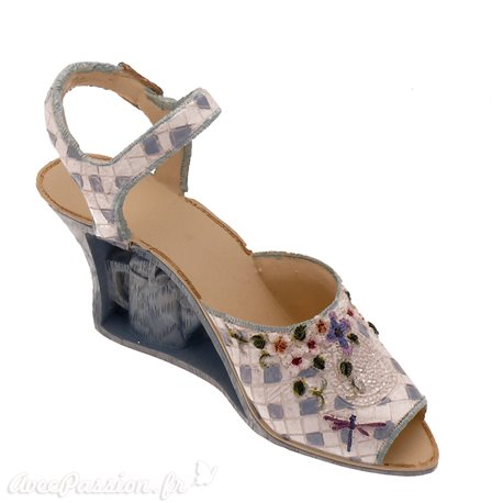 Chaussure miniature collection libellule