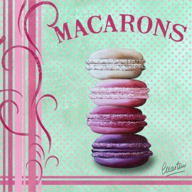 Carte postale Catherine Martini macarrons