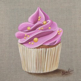 Carte postale Catherine Martini cupcake rose