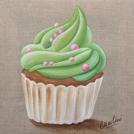 Carte postale Catherine Martini cupcake vert
