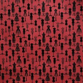 Papier à motifs pompadour rouge et noir