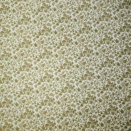 Papier tassotti motifs petites feuilles dorées
