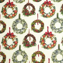 Papier tassotti motifs couronne de noël