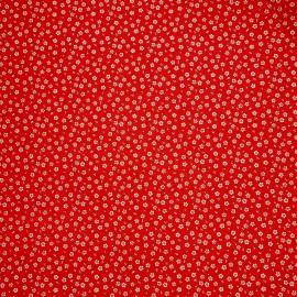 Papier japonais washi fleurs blanches fond rouge