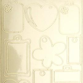 Sticker peel off adhésif blanc étiquettes