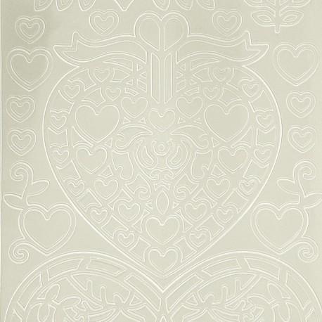 Sticker peel off adhésif blanc Noel scandinave