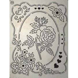 Pergamano mini grille embossage ciselage 19 étiquette fleur 71019