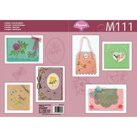 Pergamano modèles patron  M111, jardin botanique 82021