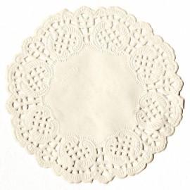 Napperon papier dentelle découpée blanc 9cm