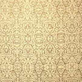 Papier fantaisie miniatures ivoire et or