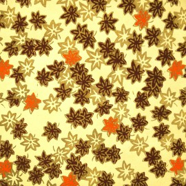 Papier fantaisie decora sakura crème or marron et orange