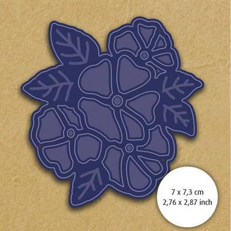 Dies découpe gaufrage matrice Aurélie violettes