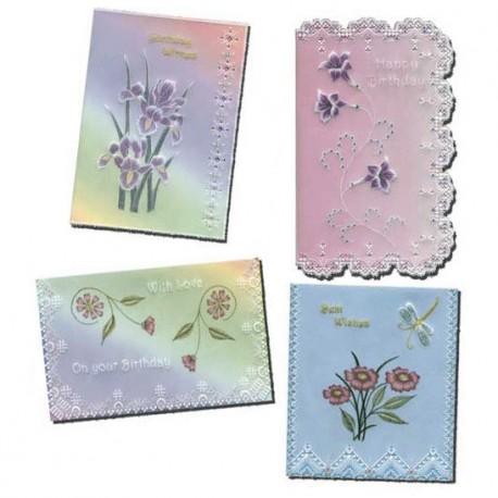 Patrons dentelle de papier PCA Pauline Loweth fun with flowers