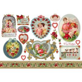 Papier de riz Stampéria saint valentin