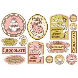 Papier de découpage Stampéria gateaux chocolat