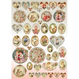 Papier de découpage Stampéria vintage anges printemps