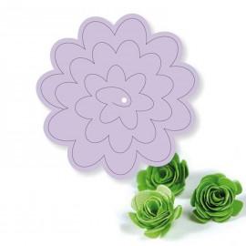 Dies découpe gaufrage matrice cArt'Us fleur en 3D 1 dies