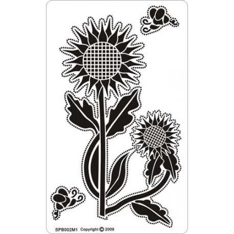 Siesta grille parchemin fleurs tournesols 8x14cm SPB002M