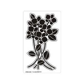 Siesta grille parchemin fleurs 8x14cm SPB004M
