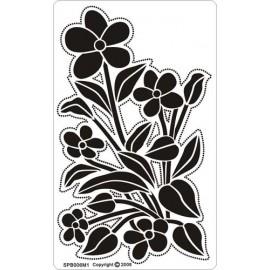 Siesta grille parchemin fleurs 8x14cm SPB006M