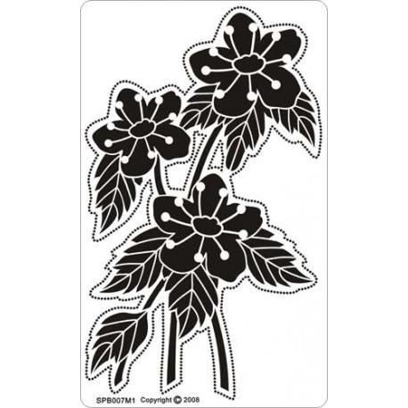 Siesta grille parchemin fleurs 8x14cm SPB007M