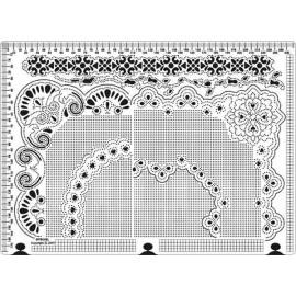 Siesta grille parchemin coins 25x18cm SPB008L