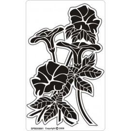 Siesta grille parchemin fleurs 8x14cm SPB008M