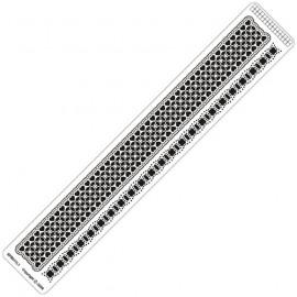 Siesta grille parchemin règle 4x25cm SPB011LR