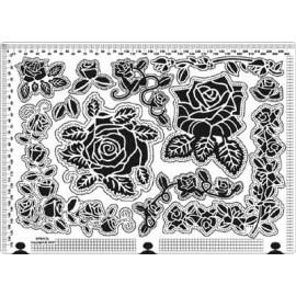 Siesta grille parchemin roses 25x18cm SPB013L